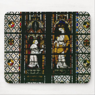 Window depicting the Virgin and Raoul de Ferrieres Mouse Pad