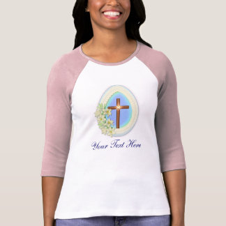 Window Egg and Cross - Personalize text T-Shirt