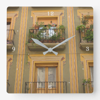 Window Espana Photo Square Wall Clock