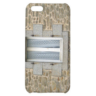 Window In Rough Stone Wall With Lace Curtains iPhone 5C Cover
