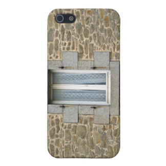 Window In Rough Stone Wall With Lace Curtains iPhone 5 Covers
