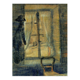 Window in the Bataille Restaurant by van Gogh Postcard