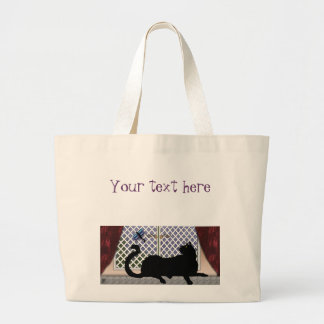 window kitty large tote bag