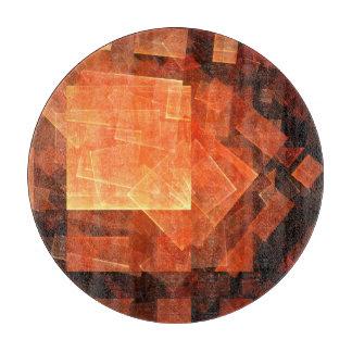 Window Light Abstract Art Circle Cutting Board