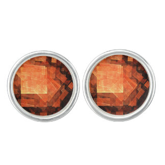 Window Light Abstract Art Silver Plated Cuff Links