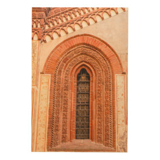 WINDOW OF GOTHIC  STYLE   WOOD WALL ART WOOD PRINTS