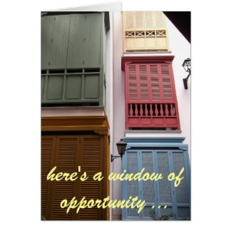 window of opportunity birthday card