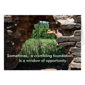 Window of Opportunity Encouragement Card
