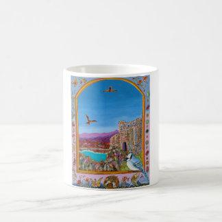 Window on Italian castle by the sea Coffee Mug