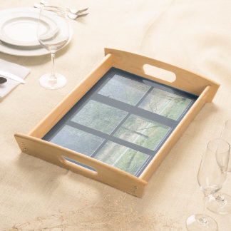 Window On The World Large Serving Tray