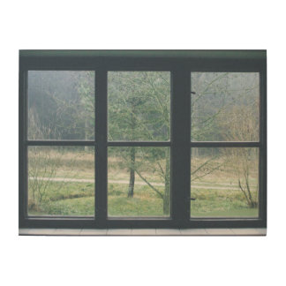 Window On The World Wood Wall Art Wood Canvases
