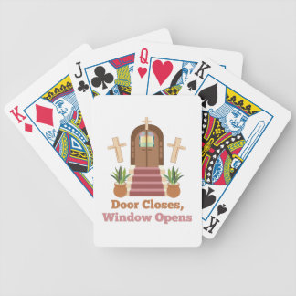 Window Opens Bicycle Playing Cards