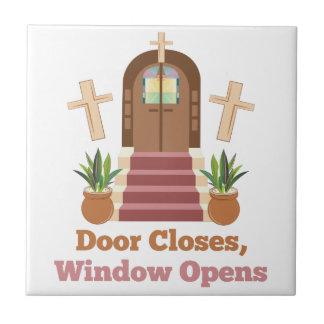 Window Opens Ceramic Tile