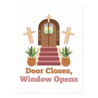 Window Opens Postcard
