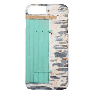 Window Shutters on a Rustic Rock Wall iPhone Case