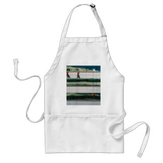 Window Themed, Few Men Hanging With Saftey Cable A Standard Apron
