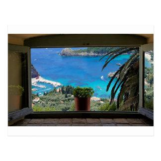 window to greece postcard