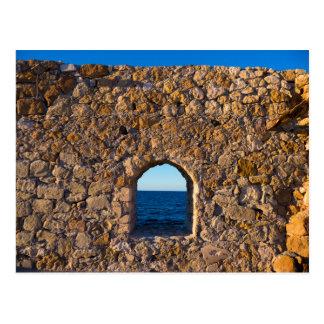 Window to the Aegean Sea Postcard
