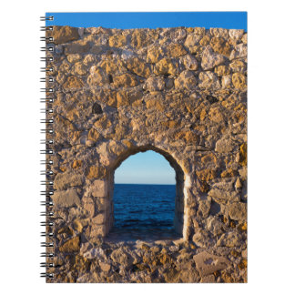 Window to the Aegean Sea Spiral Notebook