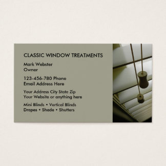 Window Treatments Business Cards