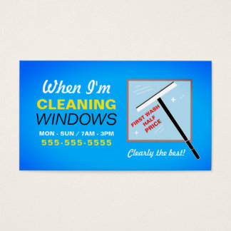 Window Washer, Window Cleaner Business Card