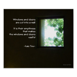 Window/Wisdom of Lao Tzu Poster