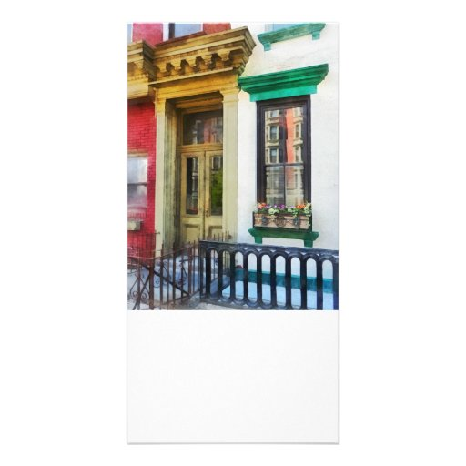 Window With Reflections and Windowbox Personalized Photo Card