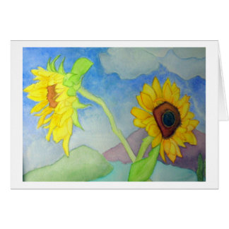 Window with Sunflowers Card