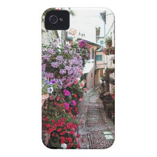 Windows, balcony and flower alleys in Spello Case-Mate iPhone 4 Cases