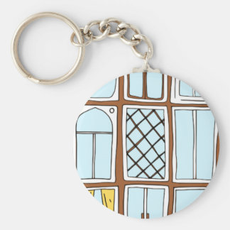 windows basic round button key ring
