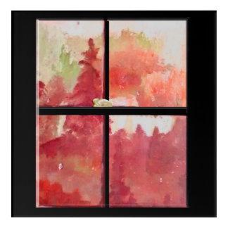 Windows of Seasons Fall Acrylic Print