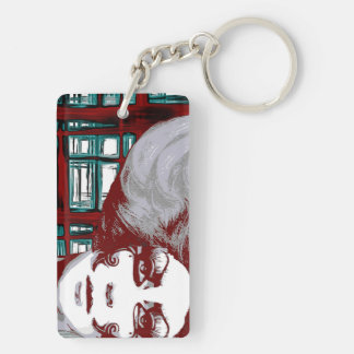 Windows vintage woman keychain