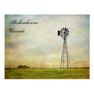 """Winds of Change"" Saskatchewan Canada Postcard"