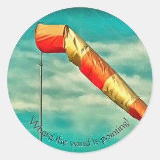 Windsock Classic Round Sticker