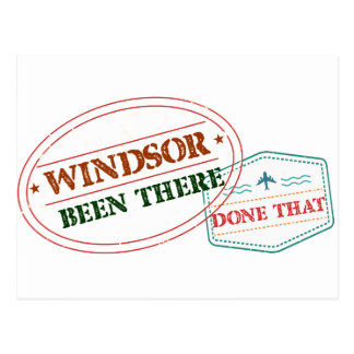 Windsor Been there done that Postcard