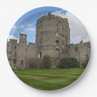 Windsor Castle in England Paper Plate
