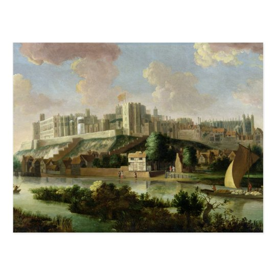 Windsor Castle seen from the Thames, c.1700 (oil o Postcard
