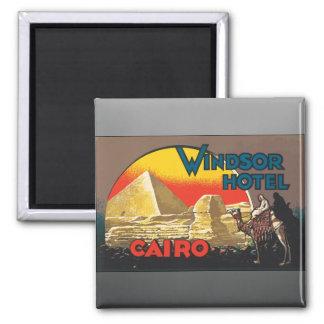 Windsor Hotel Cairo Vintage Magnet