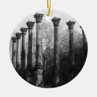 Windsor Ruins - Black & White Photography Ornaments