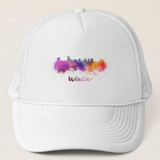 Windsor skyline in watercolor trucker hat