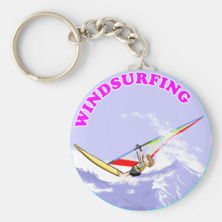 Windsurf in the waves key ring
