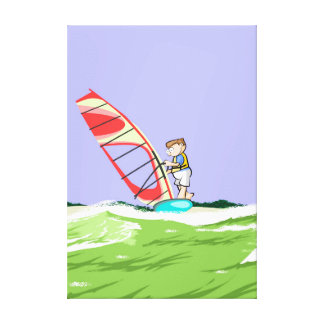 Windsurf learning to handle the candle canvas print