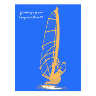 windsurfer, Greetings from Corpus Christi! Postcard