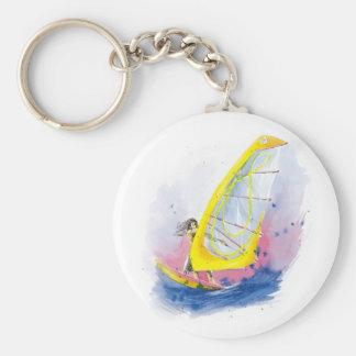 Windsurfer Key Ring
