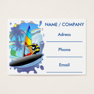 WindSurfer on Ocean Waves Business Cards