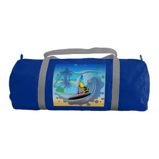 WindSurfer on Ocean Waves Custom Duffle Gym Bag