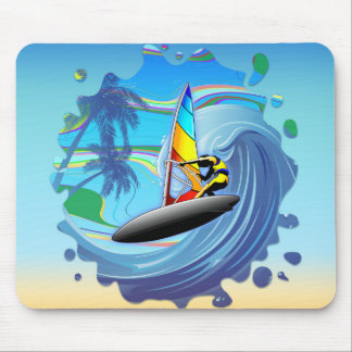 WindSurfer on Ocean Waves Mousepad
