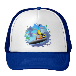 WindSurfer on Ocean Waves Trucker Hat