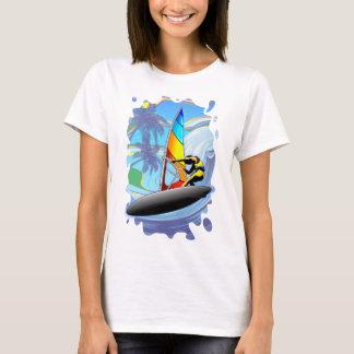 WindSurfer on Ocean Waves Women's Basic T-Shirt