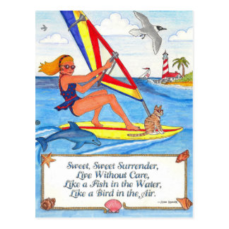 Windsurfer Postcard